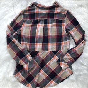 Anthropologie Tops - Anthro- Holding Horses Seamed Plaid Flannel Tunic
